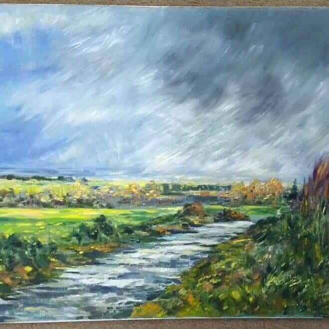 Gill Jeffreys 'Storm approaching Holme-Next-Sea Norfolk'