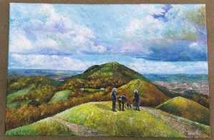 Joe Walton 'Chat on the hill (Malvern) 1