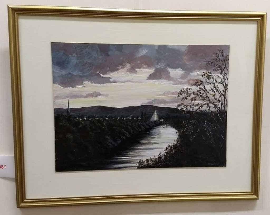 Maggie C 'Autumn Sunset over River'
