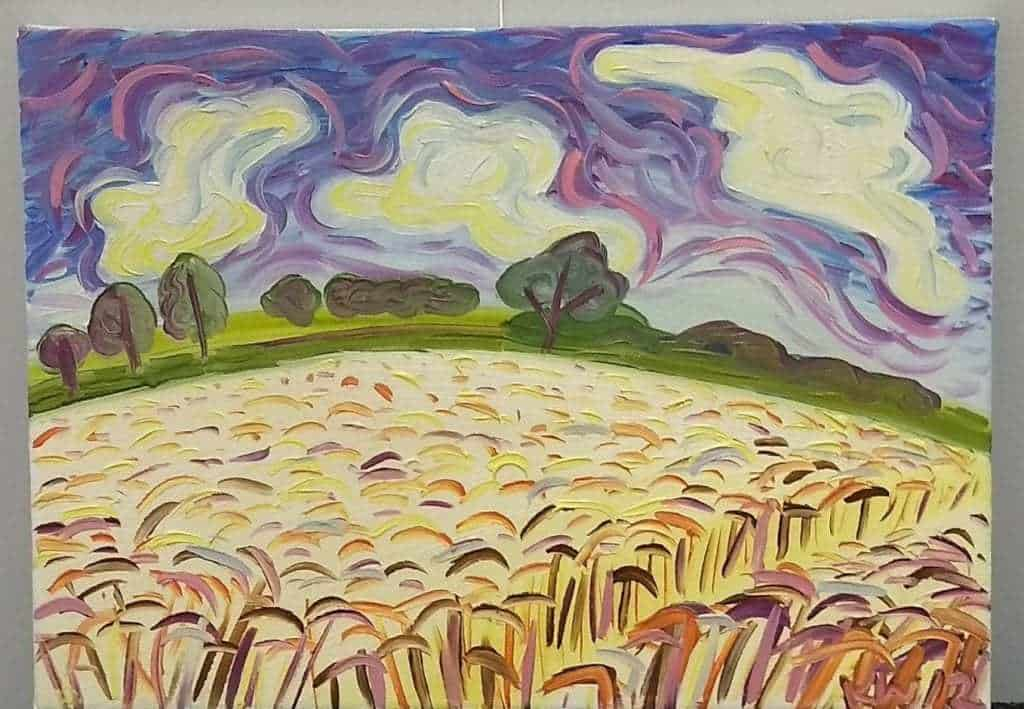 Kirsty Wain 'Wheatfield nr Guarlford V'