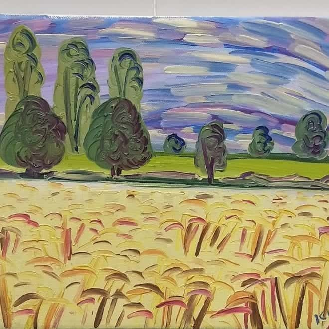 Kirsty Wain 'Wheatfield nr Guarlford IV'