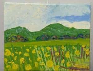 Kirsty Wain 'Wheat field near Guarlford IV' 1