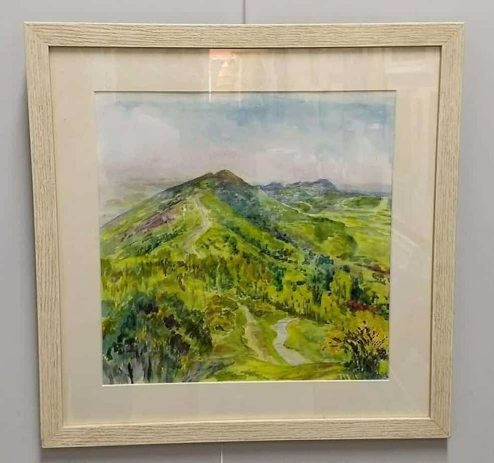 Gill Jeffreys 'Towards the Wyche from Malvern'