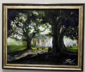 Paul Ward 'Malvern at Dusk' Framed